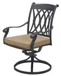 Patio Furniture Rocker Swivel Cast Aluminum Chair (Set/2) Capri