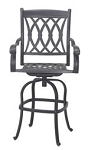 Patio Furniture Bar Stool Swivel Cast Aluminum Capri