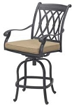 Patio Furniture Pub Stool Cast Aluminum Swivel Counter Height Capri