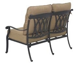Patio Furniture Deep Seating Loveseat Cast Aluminum Capri