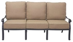 Patio Furniture Deep Seating Sofa Cast Aluminum Capri
