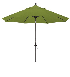 Market Umbrella Aluminum Collar Tilt Sunbrella Canvas Terracotta 5440