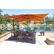 10' Square Aluminum Cantilever Umbrella