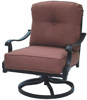 Cast Aluminum Swivel Rocker Club Chair