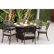 Cast Aluminum Dining Set with Propane Fire Pit