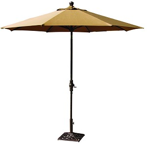 Market Umbrella Aluminum Frame 9' Autotilt Bar Height