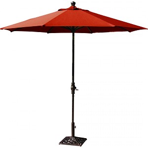 Market Umbrella Aluminum Frame 9' Autotilt Bar Height Sunbrella Standard Solid (More Colors)