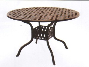 "Patio Furniture Table Dining Cast Aluminum 48"" Round Series 30"