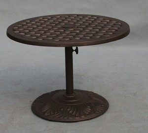 Patio Furniture Table Tea Cast Aluminum