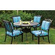"Cast Aluminum Dining Set with 48"" Round Table"