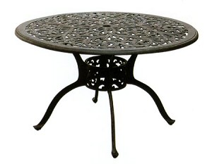 "Patio Furniture Table Dining Cast Aluminum 48"" Round Series 80"