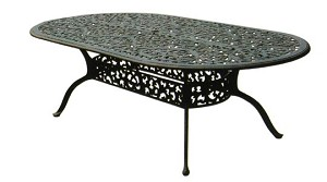 "Patio Furniture Table Dining Cast Aluminum 84"" Oval Series 80"