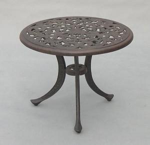 Patio Furniture Table Tea Cast Aluminum 21 Quot Round Series 80