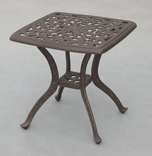 Cast Aluminum End Table