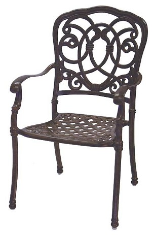 Patio Furniture Chair Dining Cast Aluminum (Set/2) Florence