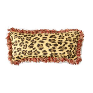 "Lumbar Pillow Indoor/Outdoor 26""x11"" Sunbrella Solid Color with Fringe"
