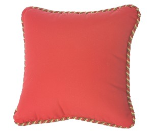 Sunbrella Throw Pillow with Cording
