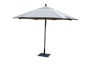 Market Umbrella Aluminum 11-ft Sunbrella Heather Beige