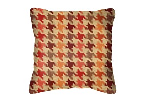 Throw Pillow in Sunbrella Bingham Sunset 45789-0004