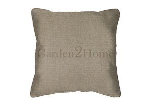 Throw Pillow in Sunbrella Canvas Taupe 5461