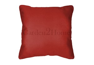 Throw Pillow in Sunbrella Canvas Logo Red 5477