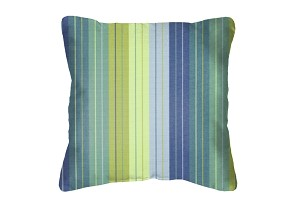 Throw Pillow in Sunbrella Seville Seaside 5608