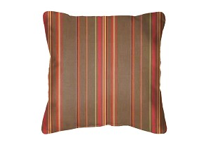 Sunbrella Throw pillow in Stanton Brownstone 58003