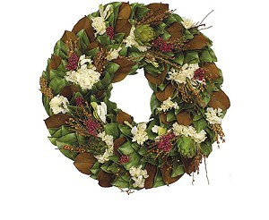 Wreath Dried Magnolia Terracotta Tuscany